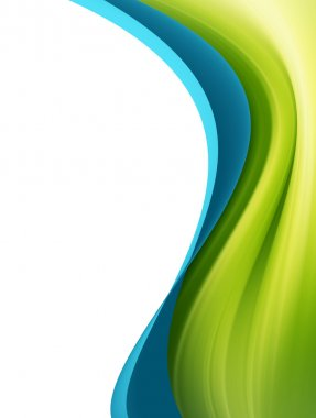 Green and blue waves