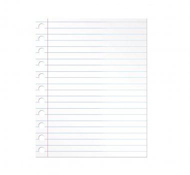 Notebook paper illustration over white background. Illustration stock vector