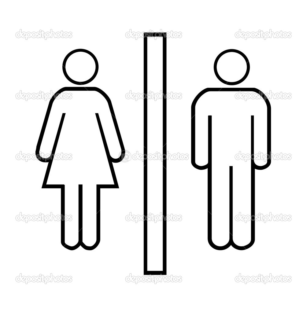 Woman and man Signs