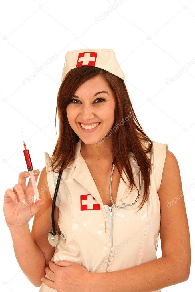 Blonde Nurse Smiling While Holding Stethoscope Hospital