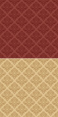 Seamless texture damask 1 red sand