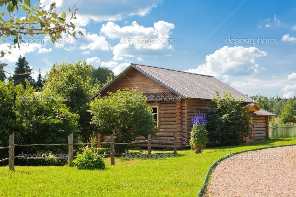 Wooden country house stock photo dvoevnore 3212682 for Building a house with usda loan