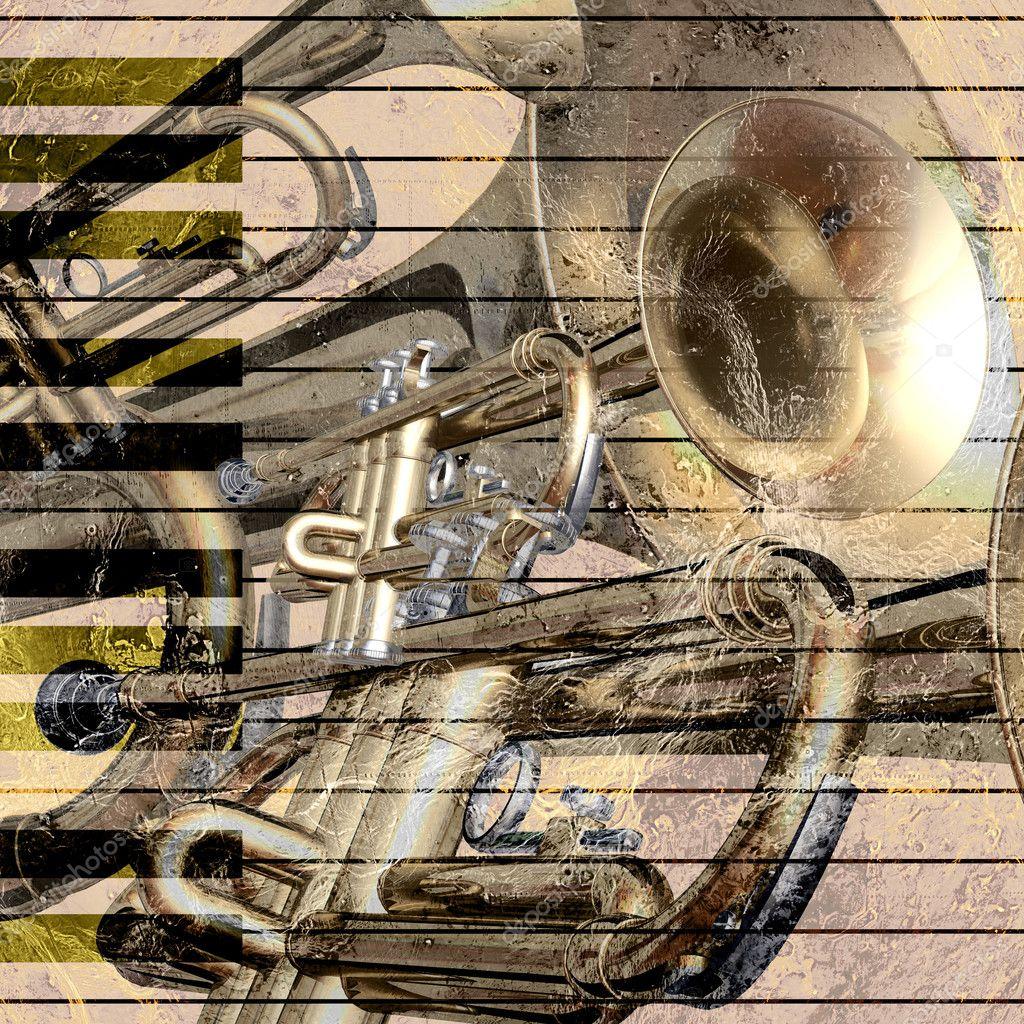 Jazz trumpet background