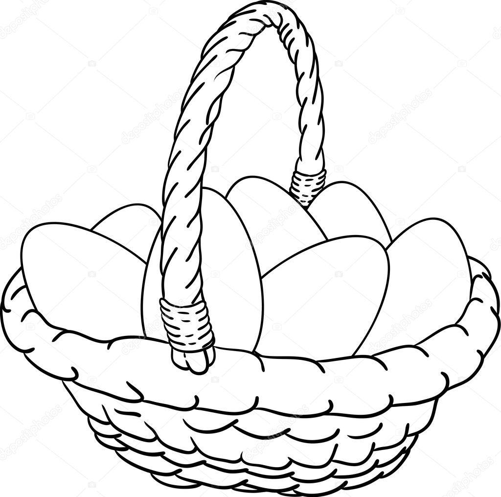 Basket Of Easter Eggs Stock Vector 2742824
