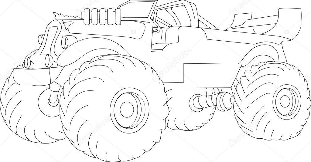 camión monstruo — Vector de stock © pavelmidi #2742905