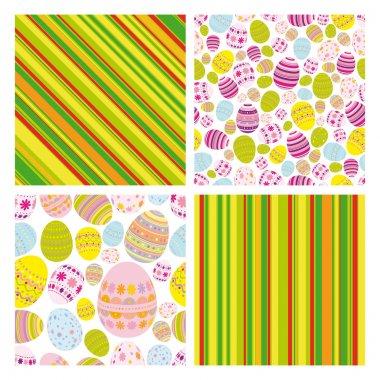 Easter set of backgrounds