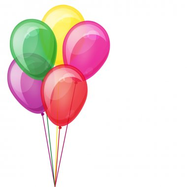Color balloons floating.