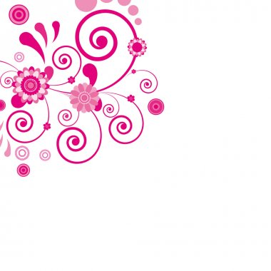 Vector. Pink flower. Floral background.