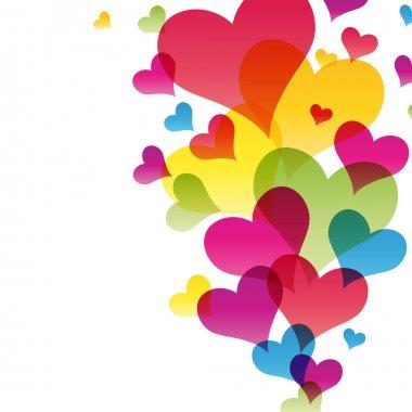 Hearts background vector Illustration for your design clip art vector