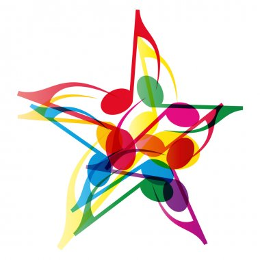 Vector Music Star