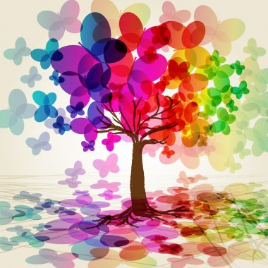 Abstract colorful Tree. Vector. Illustration for your design. clip art vector