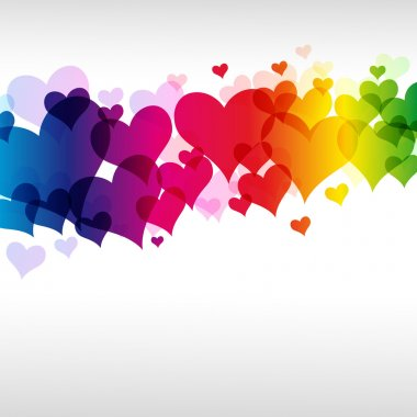 Eps colorful heart background Illustration for your design. clip art vector