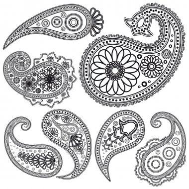 Eps Vintage Paisley patterns for design.