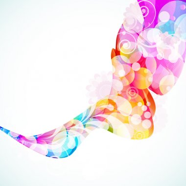 Abstract Floral Wave