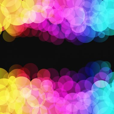 Vector illustration of blurred disco dots