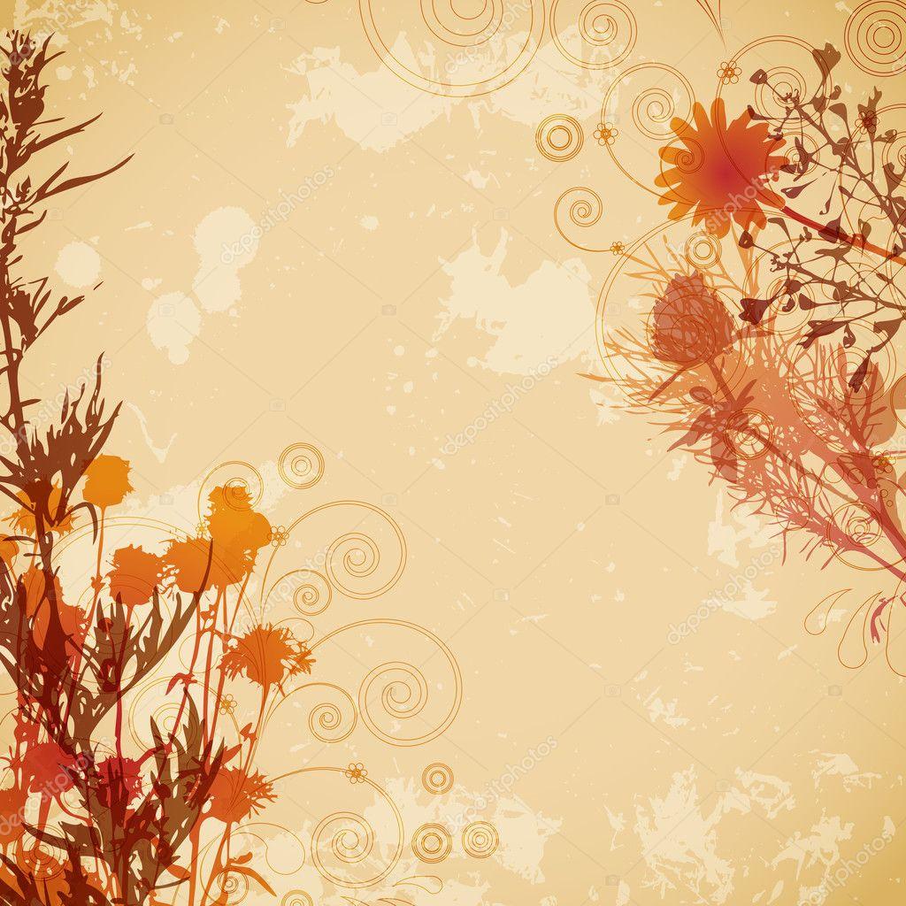 Floral vintage background - Floral Vintage Background Stock Vector 3667924