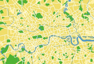 Vector illustration map of London