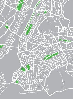 Vector illustration map of New York