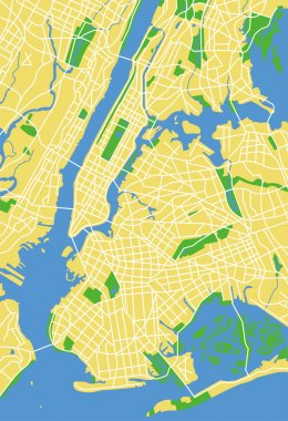 Vector illustration map of New York
