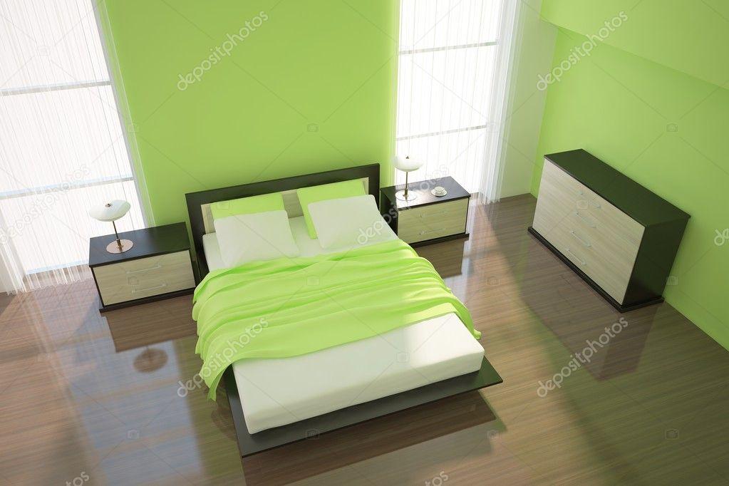 zöld hálószoba — Stock Fotó © antoha713 #2943874