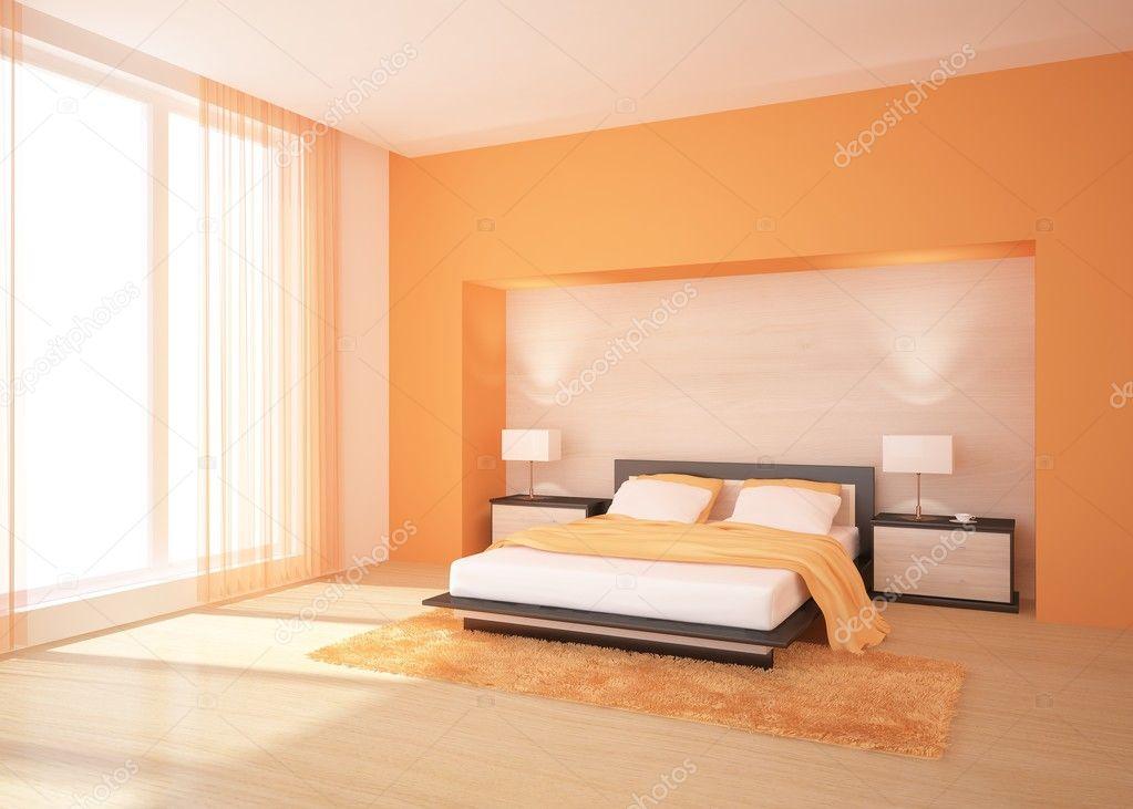 Oranje slaapkamer — Stockfoto © antoha713 #3654936