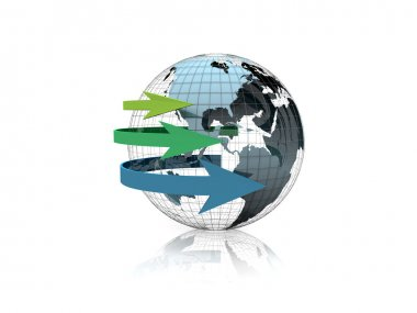 Business globe abstract