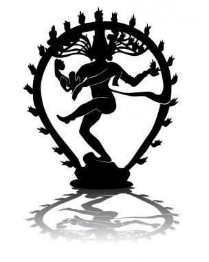 Black silhouette of Shiva