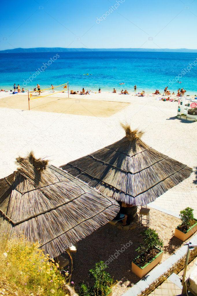 Summer beach bar holiday vacation