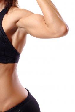 Torso of a muscular woman