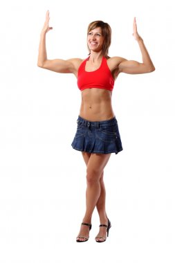 Funny biceps pose