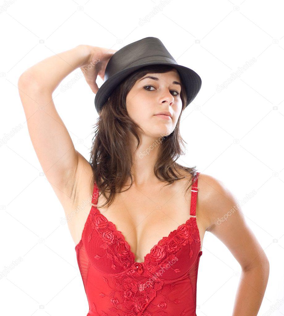 Стриптизерша в шляпе