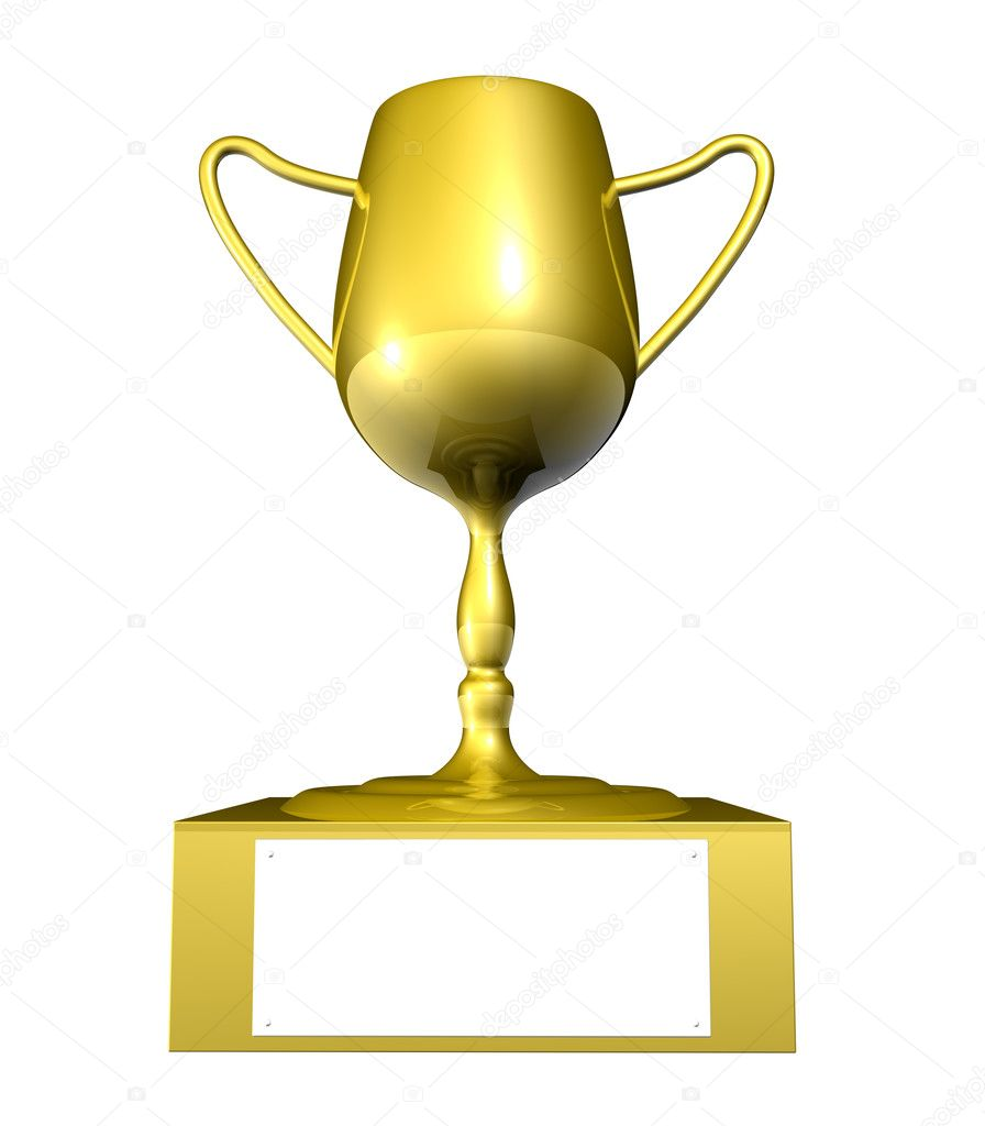 Golden Trophy - Blank Space — Stock Photo © Spectral #3499653