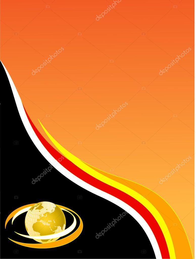 A black and orange business card stock vector mhprice 3109498 a black and orange business card stock vector colourmoves