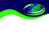 Fényképek Kék és zöld névjegykártya sablon