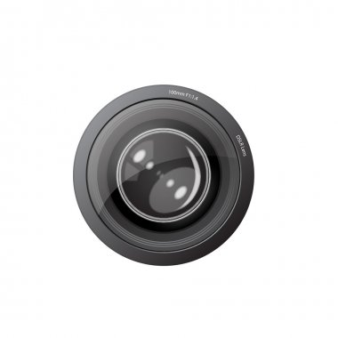 A camera lens vector illustration