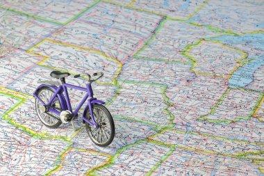 Bicycle on USA map
