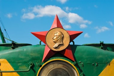 Red star with Stalin profile