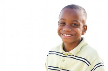 Handsome Young African American Boy Isol