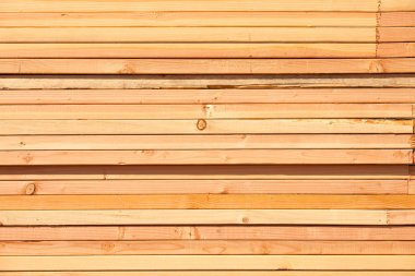 Stack of Building Lumber at Construction Site.