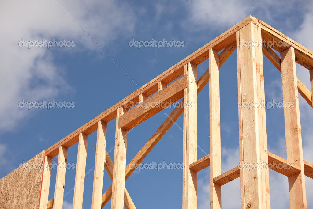 nuevo encuadre de sitio de construcción de viviendas — Foto de stock ...