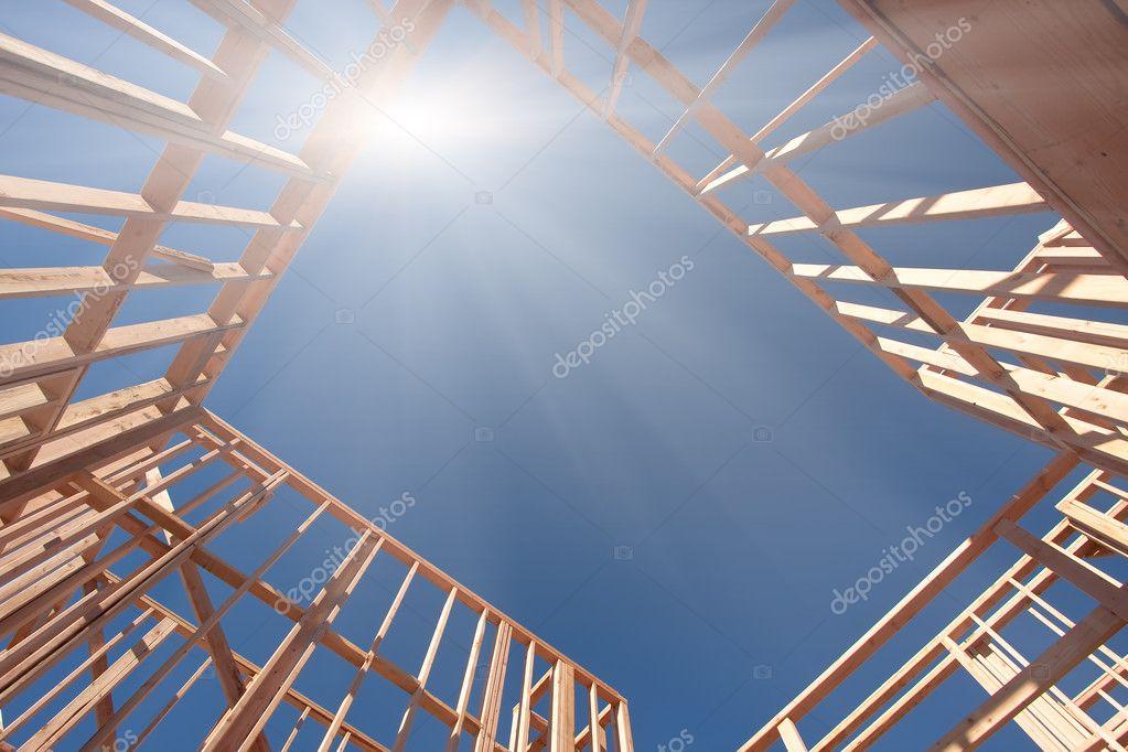 Resumen de encuadre de construcción nueva — Fotos de Stock ...