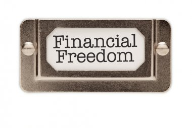 Financial Freedom File Drawer Label