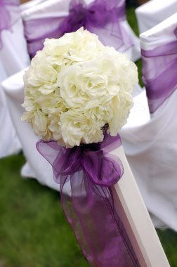 White roses wedding bouquet