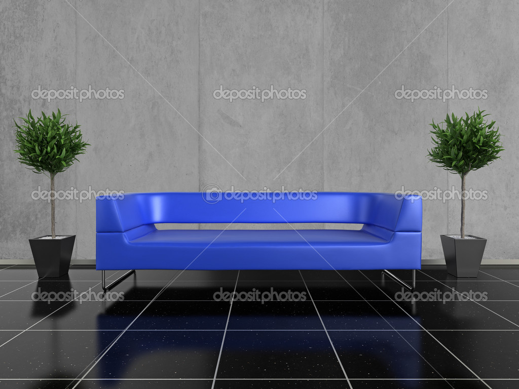 Blaues Sofa Stockfoto C Aspect3d 2709556