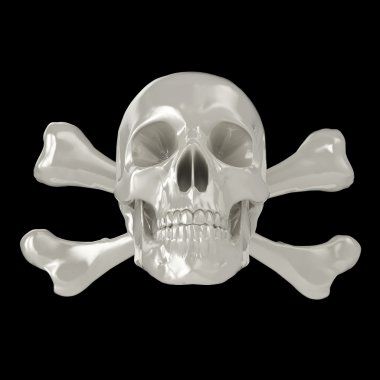 3d skull and crossbones