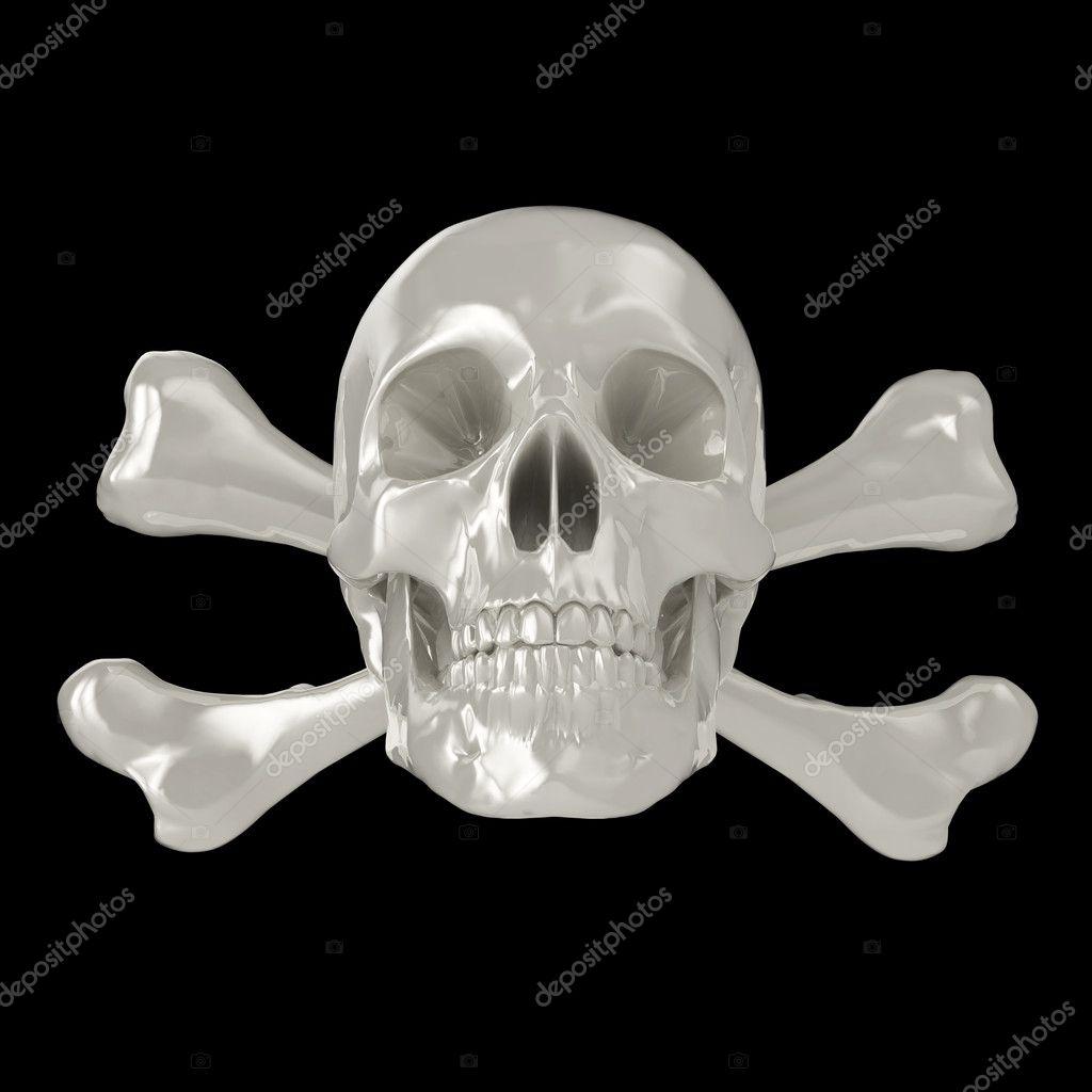 3d skull and crossbones — Stock Photo © aspect3d #3914717
