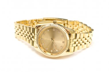 Men's gold wrist watch