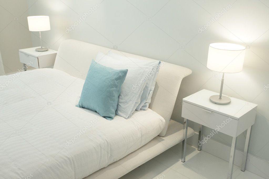 Bedroom With Side Lamps Stock Photo Image By C Felixtm 3163149
