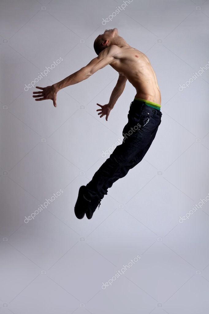 Young modern style dancer