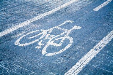 Blue bike lane